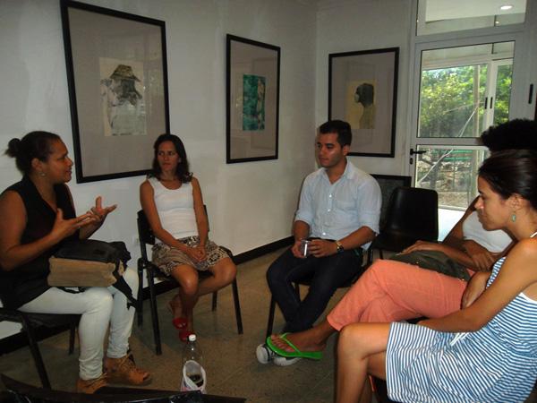 Con Yamile Pardo, directora de Altamira