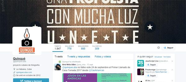 Perfil en Twitter del proyecto Quiqué
