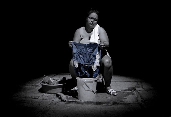 Barbara Abreu. En primer plano. Impresión digital, 2016