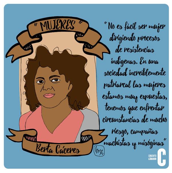 Berta Cáceres, líder indígena (Honduras)