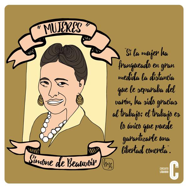 5. Simone  Beauvoir, feminista, filósofa y novelista (Francia)