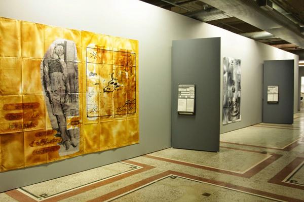 8va Bienal de Mercosur 2011. Muestra de Eugenio Dittborn.  Foto: Flavia de Quadros/indicefoto.com