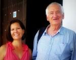 Grethel y Luc Chessex visitando la Fototeca de Cuba