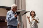 Luc Chessex y Grethel Morel durante el Networking