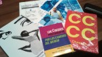 Portadas de ensayos fotográficos de Luc Chessex y cartel del seminario